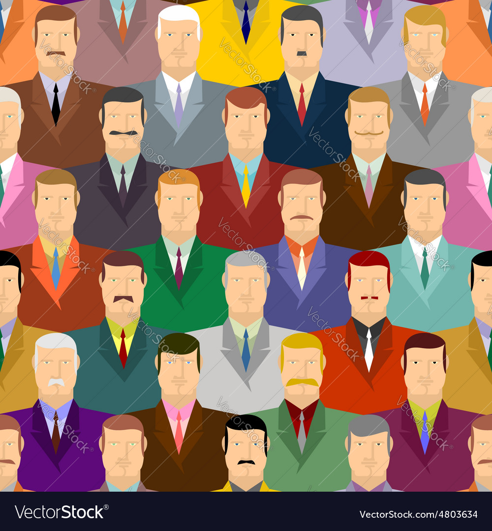 People seamless pattern men with moustaches and vector | Price: 1 Credit (USD $1)
