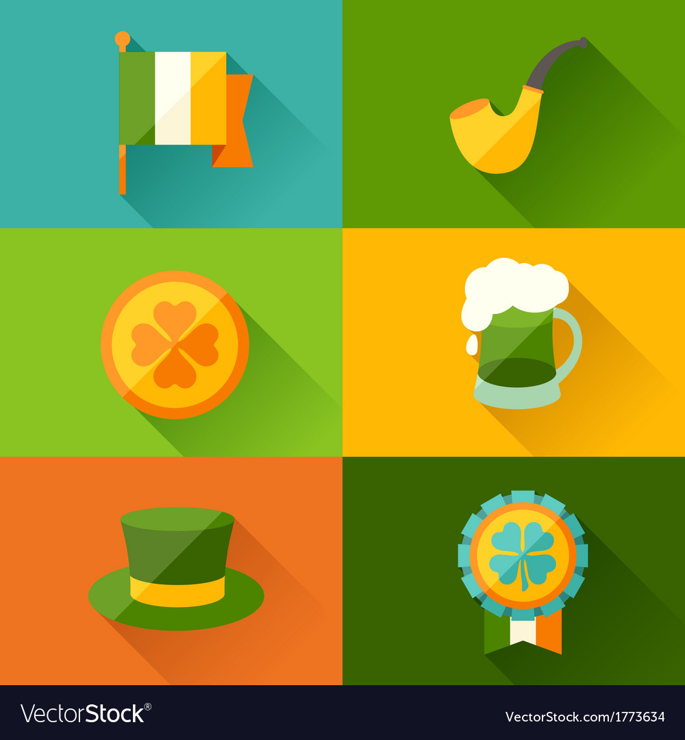 Saint patricks day background in flat design style vector | Price: 1 Credit (USD $1)