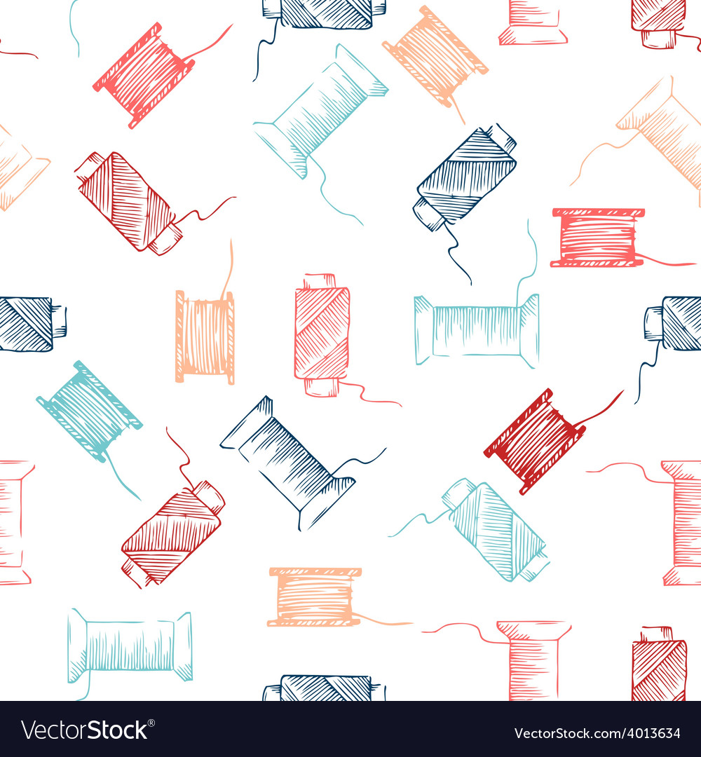 Seamless pattern of threads vector | Price: 1 Credit (USD $1)