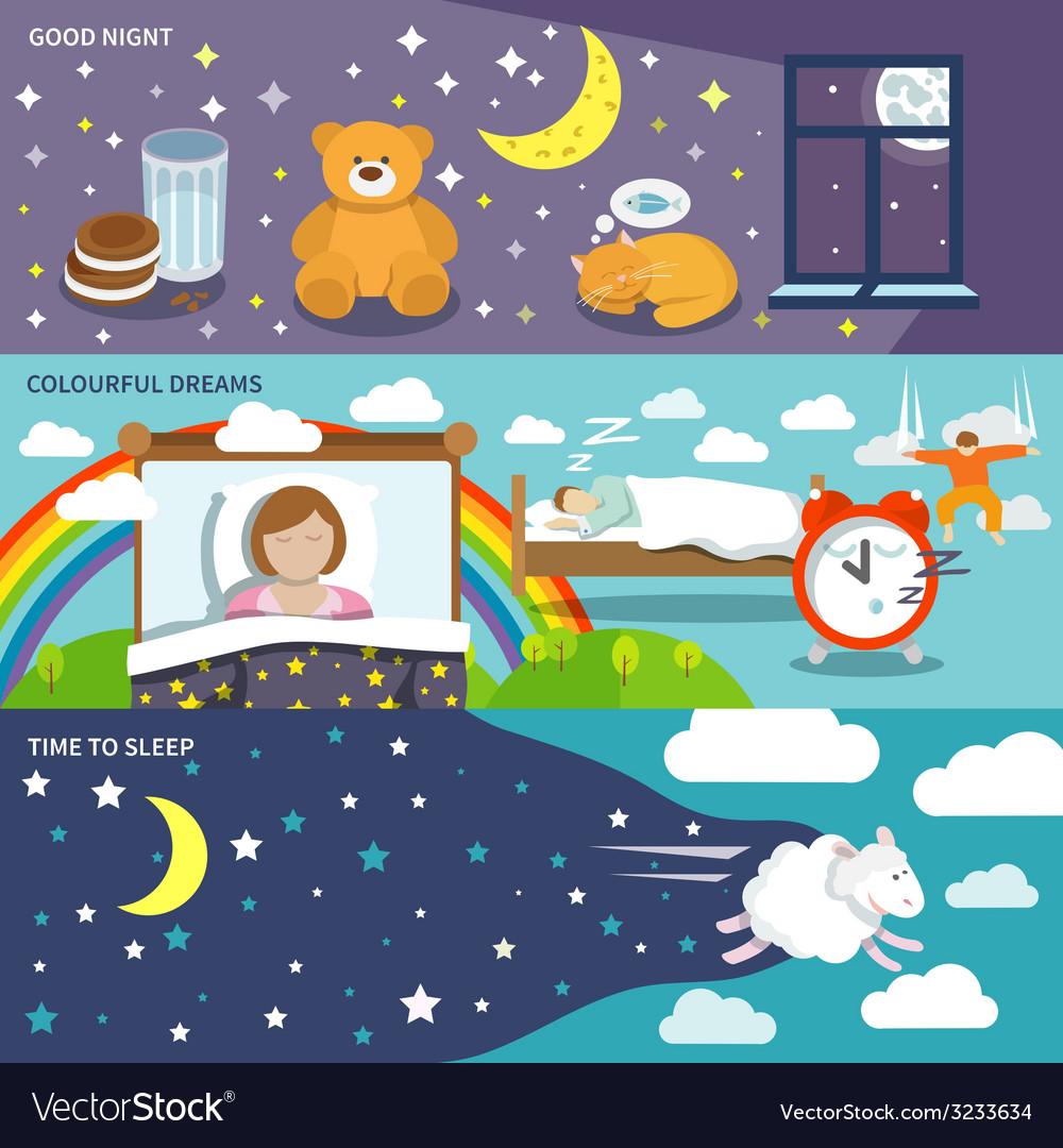 Sleep time banners vector | Price: 1 Credit (USD $1)