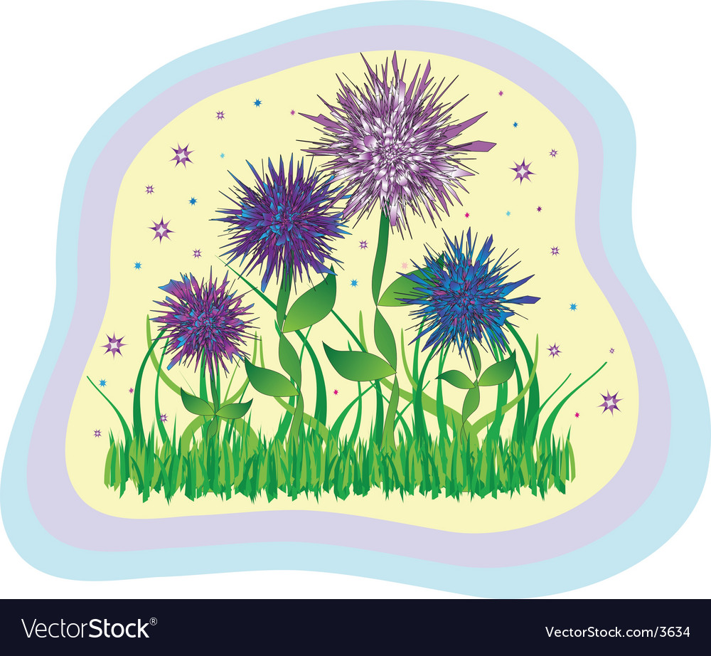 Wild flowers vector | Price: 1 Credit (USD $1)