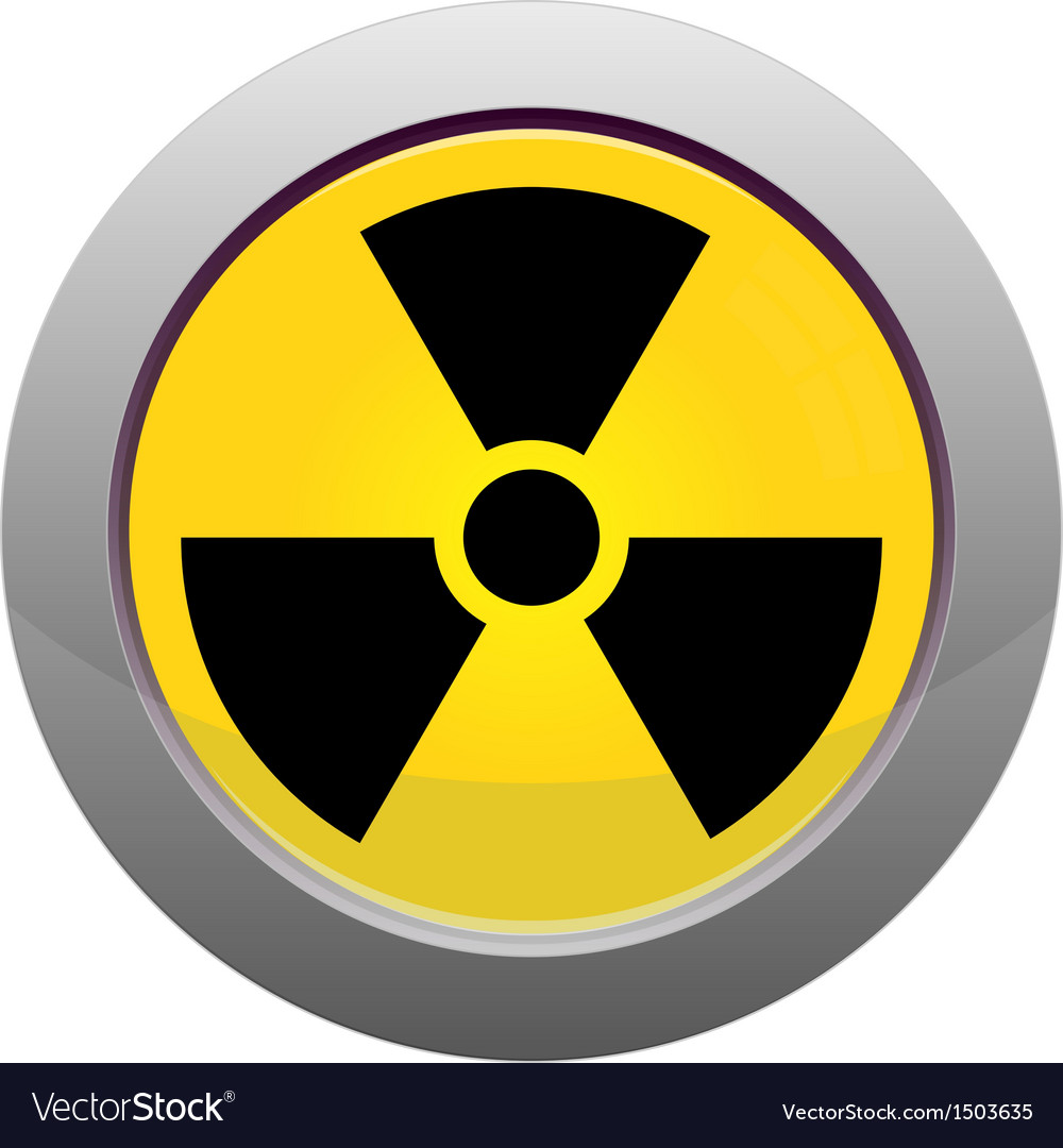 Button with radiation sign vector | Price: 1 Credit (USD $1)