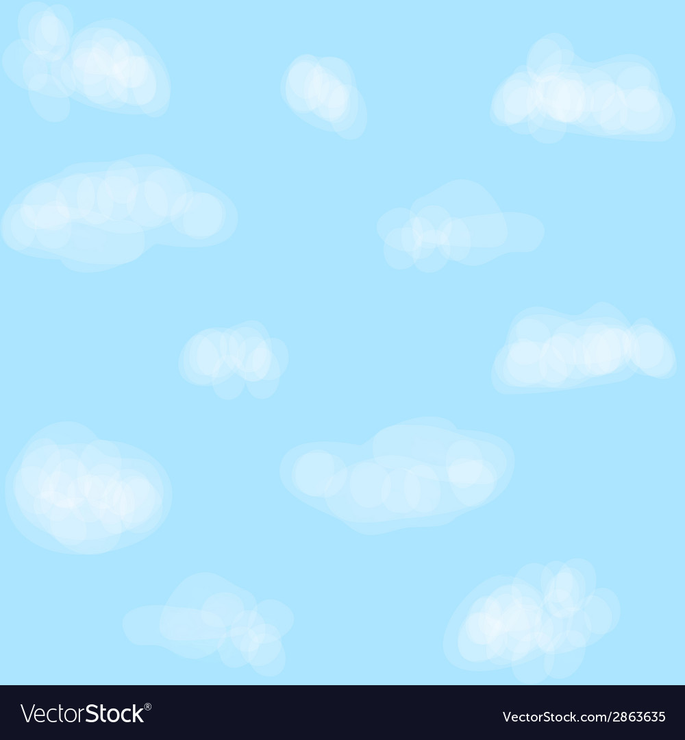 Clouds on sky vector