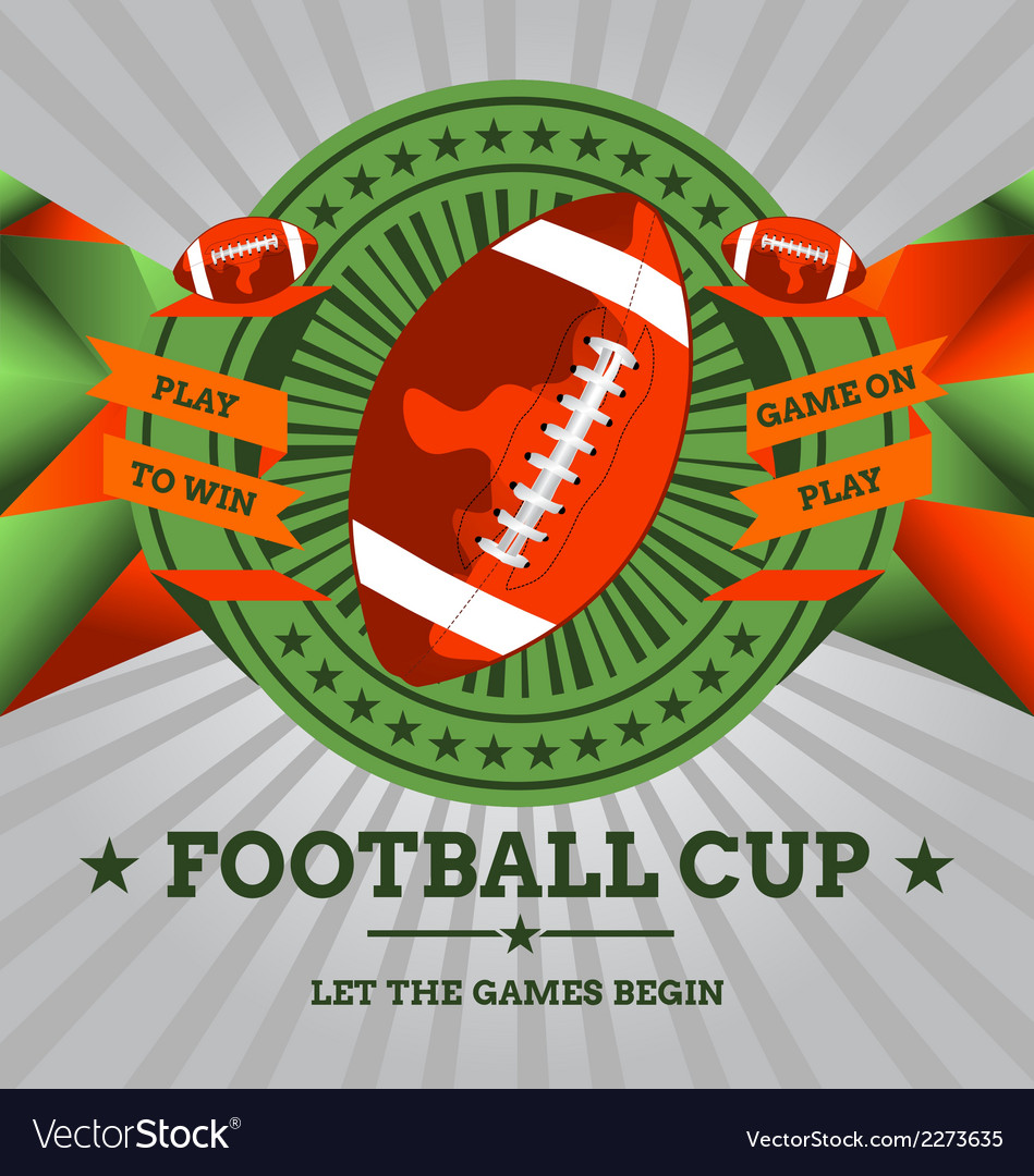 Football emblem with geometric background vector | Price: 1 Credit (USD $1)
