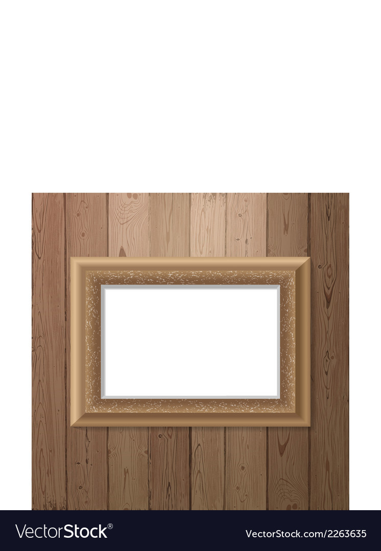 Frame over wooden background vector | Price: 1 Credit (USD $1)