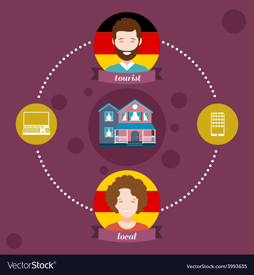 Infographics couchsurfing vector | Price: 1 Credit (USD $1)