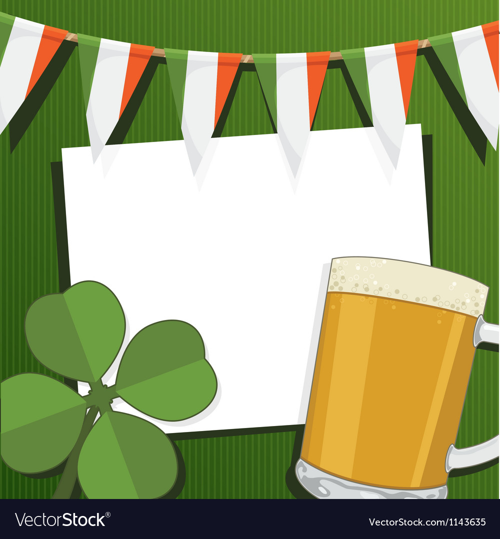 Irish party card vector | Price: 1 Credit (USD $1)