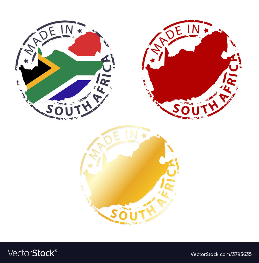 Made in south africa stamp vector