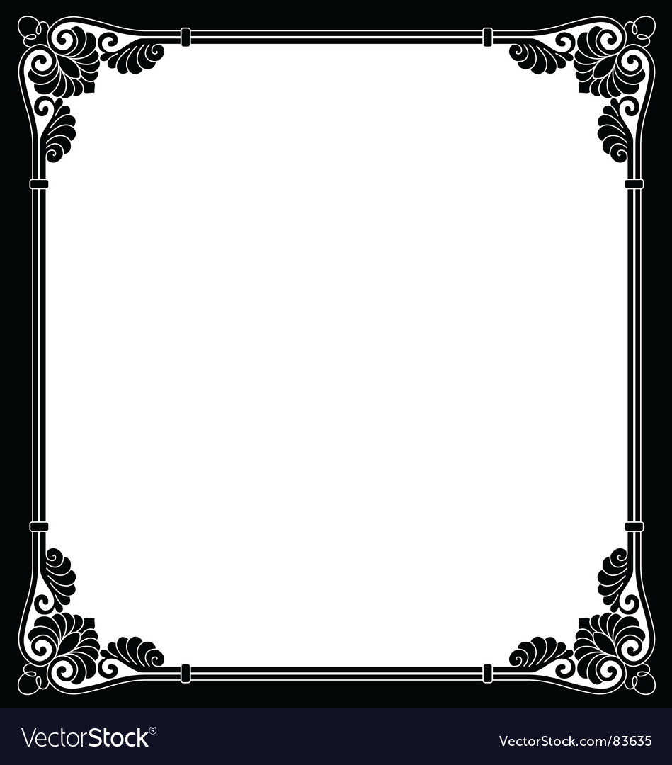 Ornamental border vector | Price: 1 Credit (USD $1)