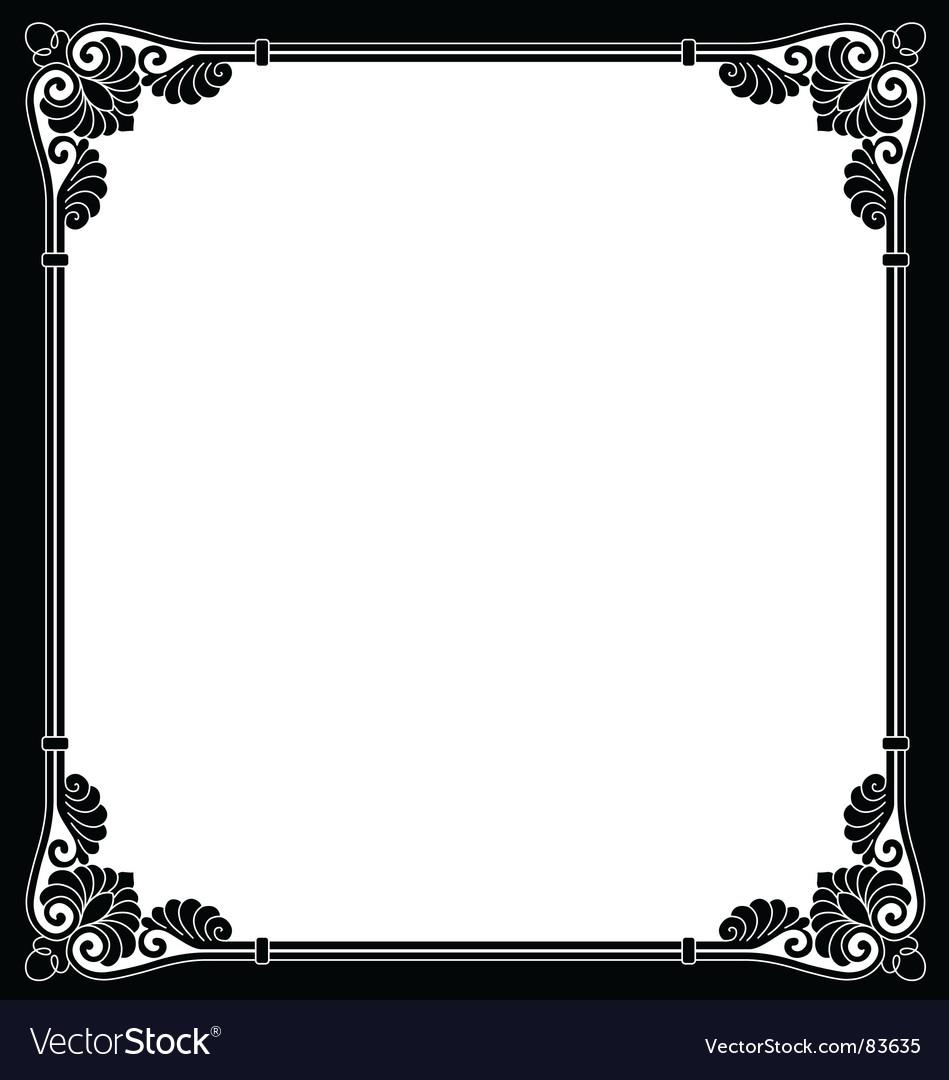 Ornamental border vector | Price: 1 Credit (USD $1)