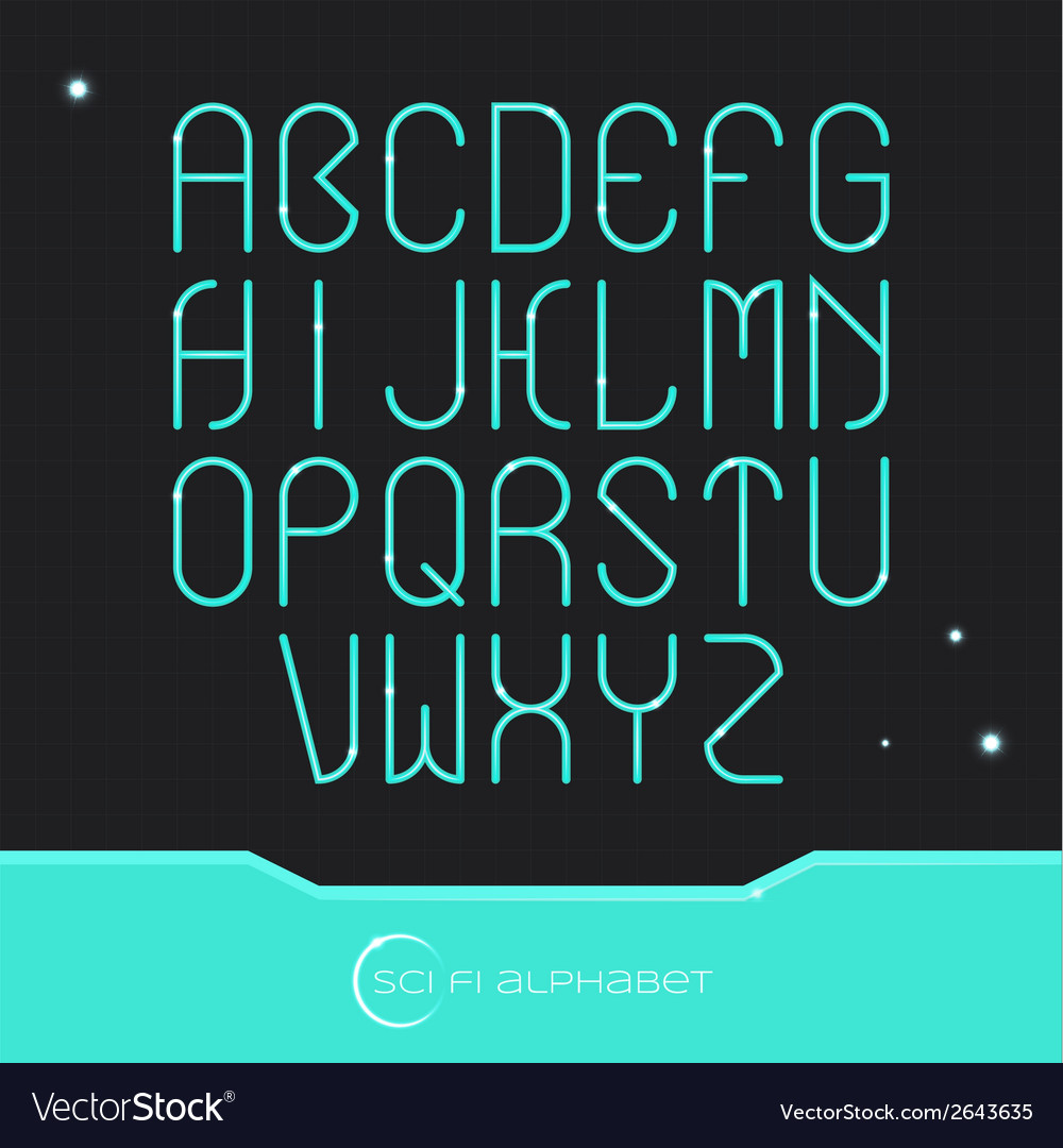 Sci fi alphabet vector | Price: 1 Credit (USD $1)