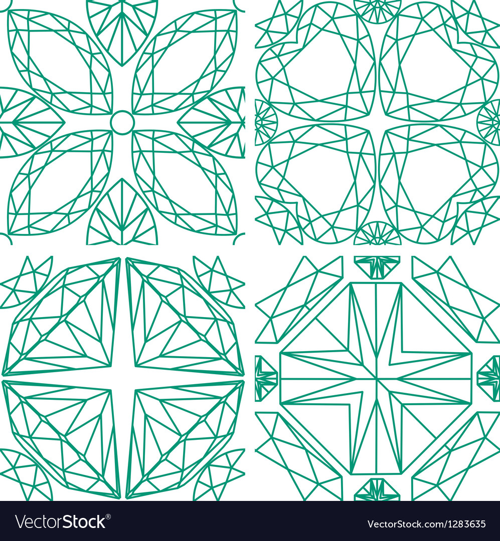 Seamless pattern from diamond cutting vector | Price: 1 Credit (USD $1)