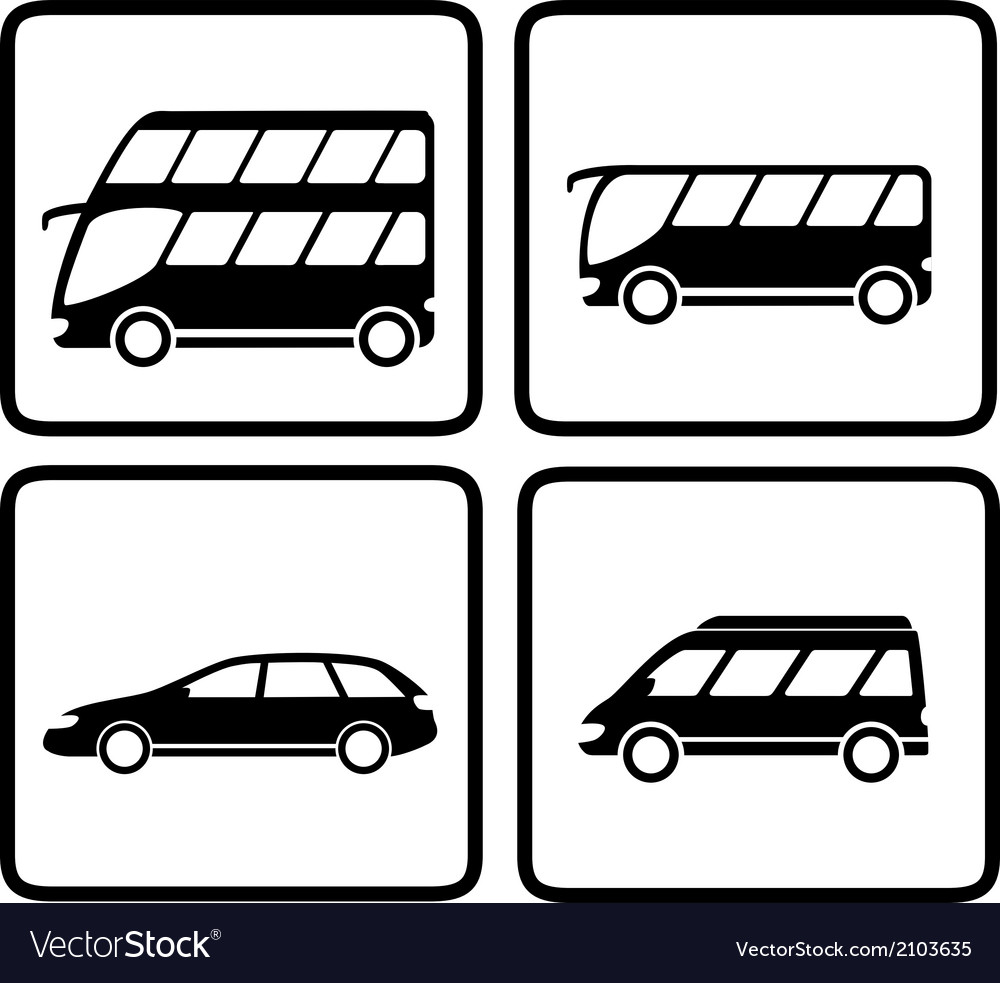 Set passenger transport icon vector | Price: 1 Credit (USD $1)