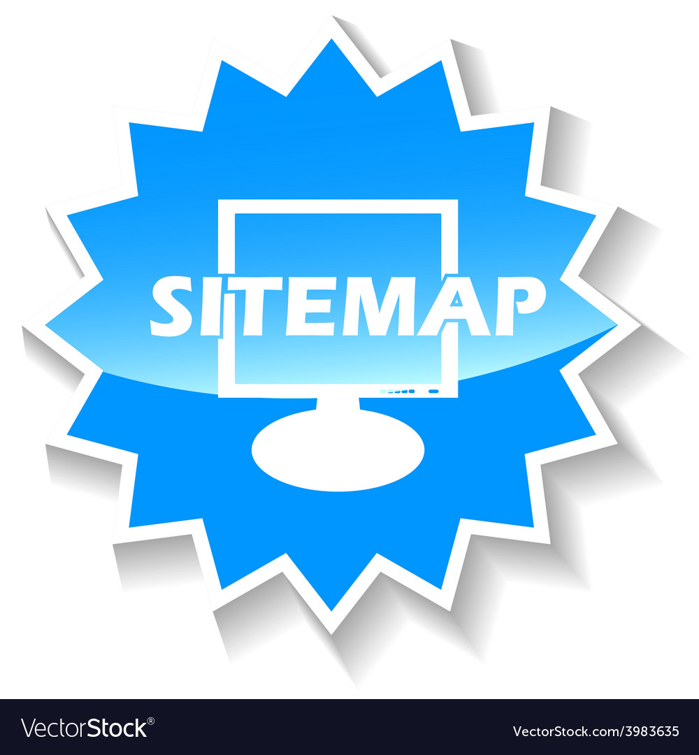 Sitemap blue icon vector   Price: 1 Credit (USD $1)