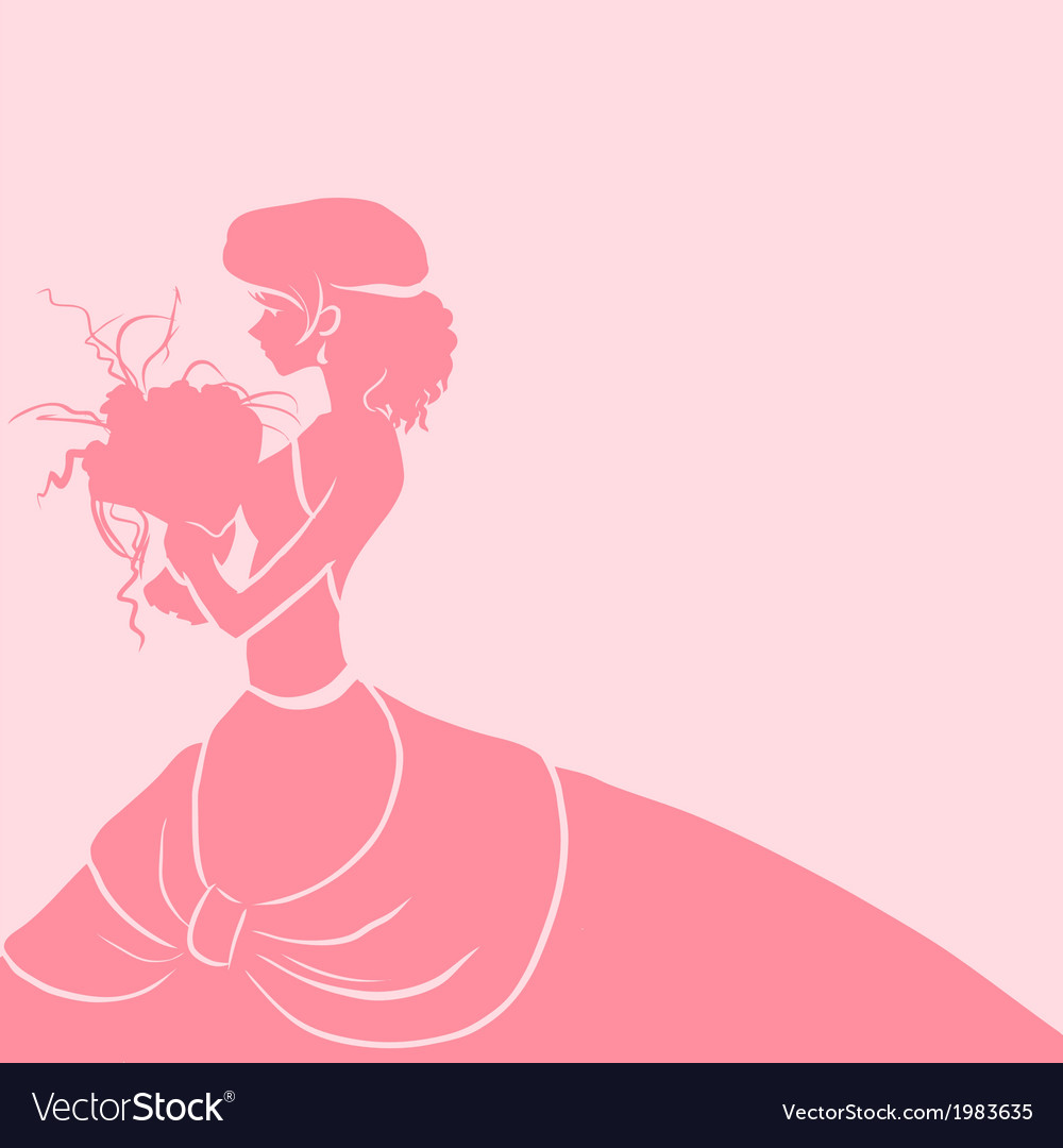 Wedding background with bride vector | Price: 1 Credit (USD $1)