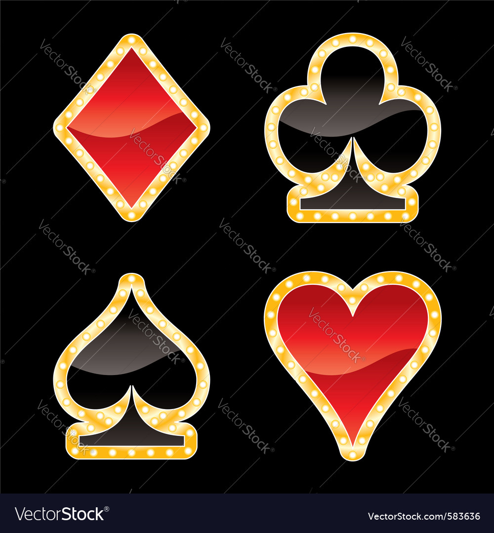 Card symbols vector | Price: 1 Credit (USD $1)