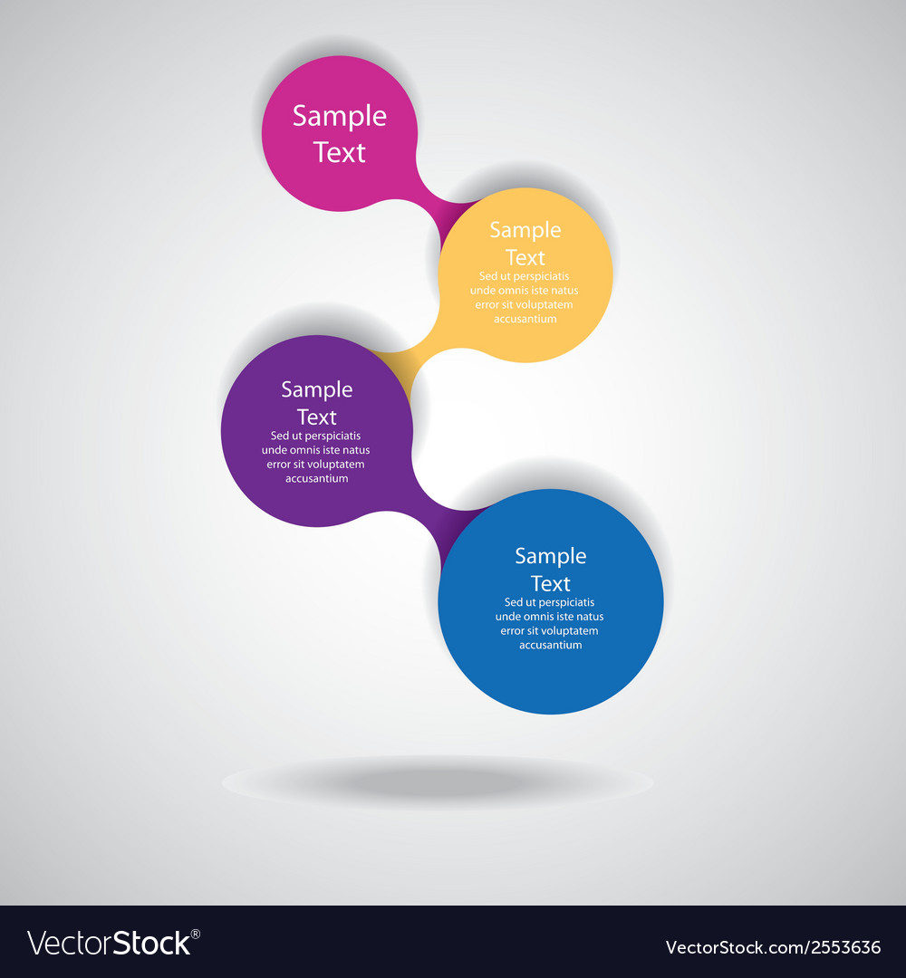 Colorful round diagram infographics vector | Price: 1 Credit (USD $1)