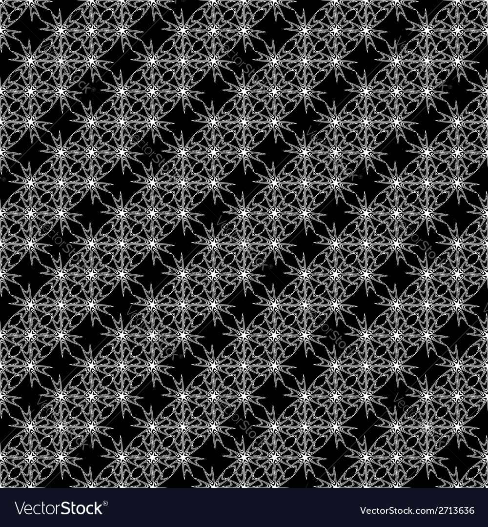 Design seamless monochrome decorative pattern vector | Price: 1 Credit (USD $1)