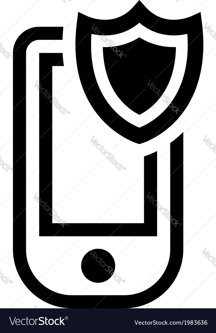 Mobile phone security icon vector | Price: 1 Credit (USD $1)