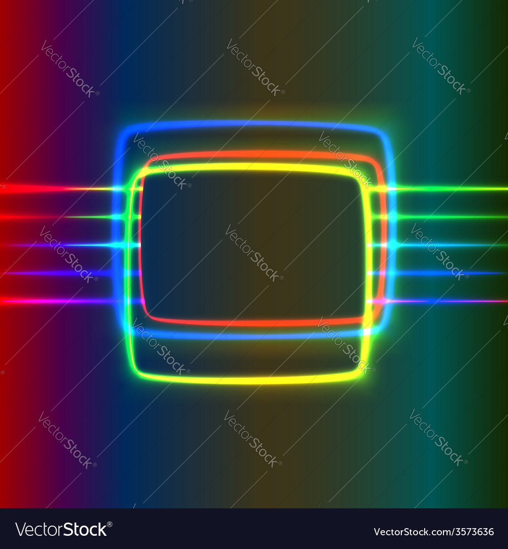 Neon screen vector | Price: 1 Credit (USD $1)