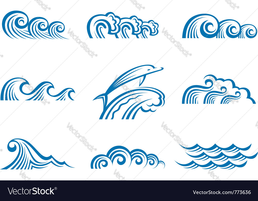 Set of waves vector   Price: 1 Credit (USD $1)