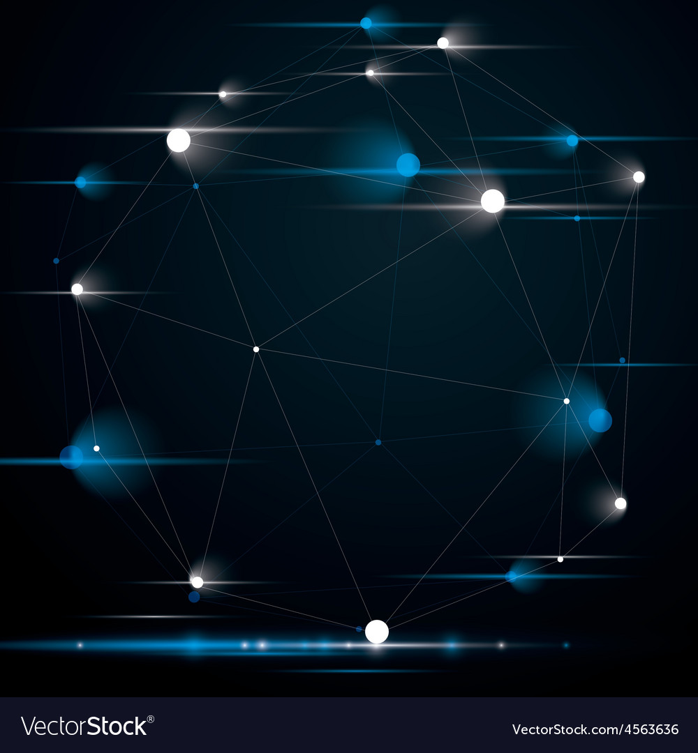 Spatial technological contrast shape with sparkles vector | Price: 1 Credit (USD $1)