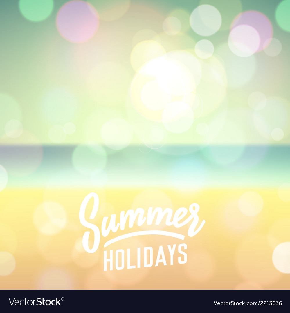 Summer tropical holidays background vector | Price: 1 Credit (USD $1)