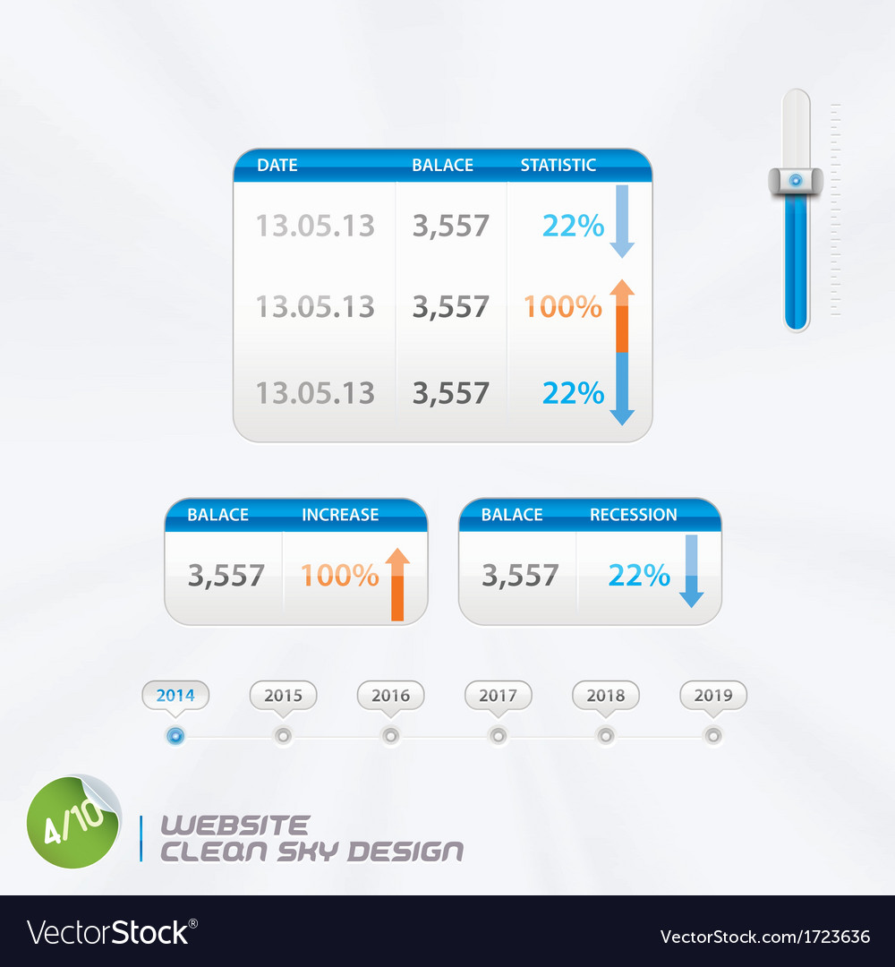 Website clean sky design vector | Price: 1 Credit (USD $1)