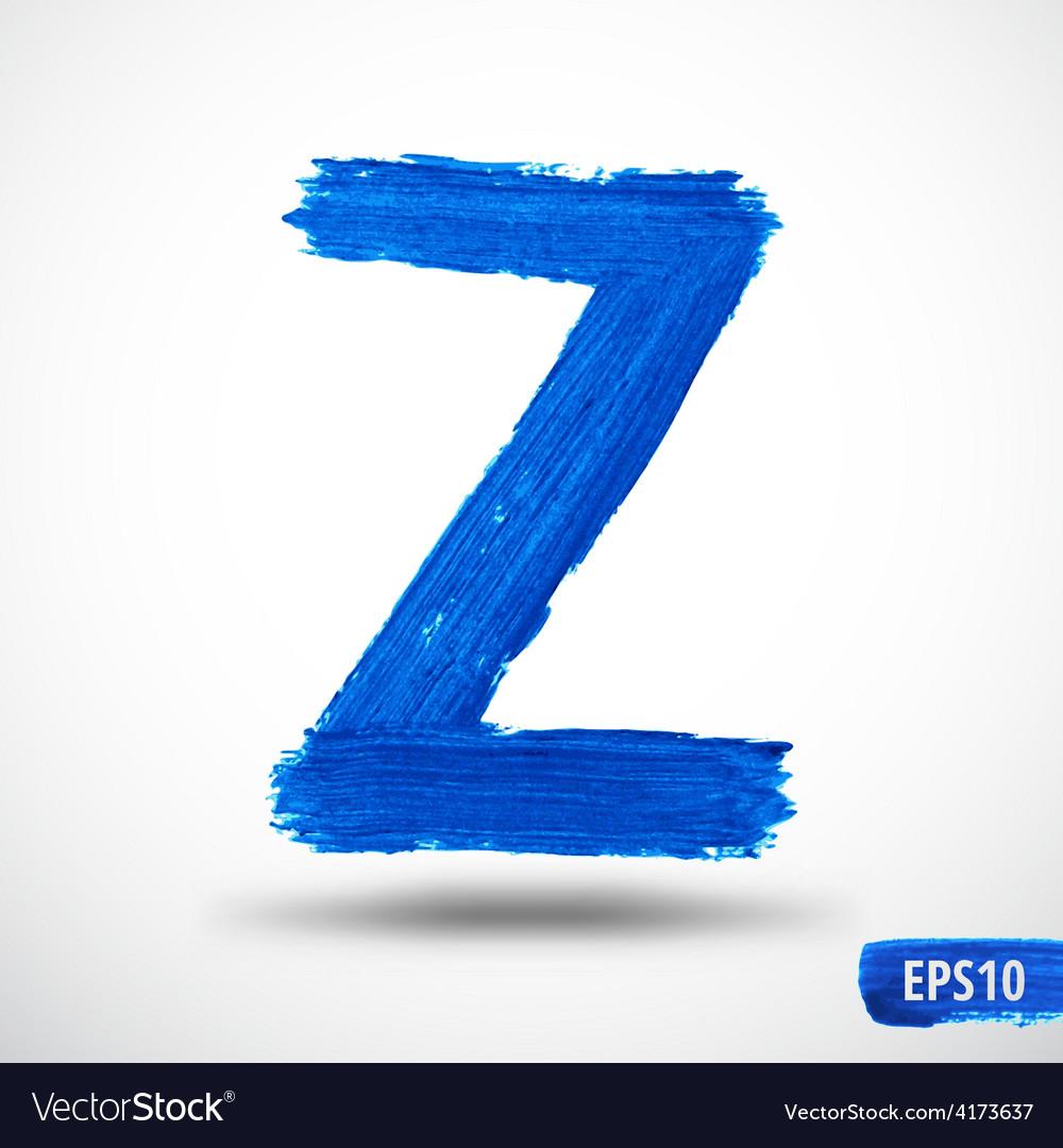 Alphabet letter z watercolor alphabet vector | Price: 1 Credit (USD $1)