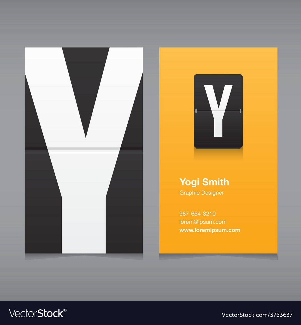 Business card letter y vector | Price: 1 Credit (USD $1)