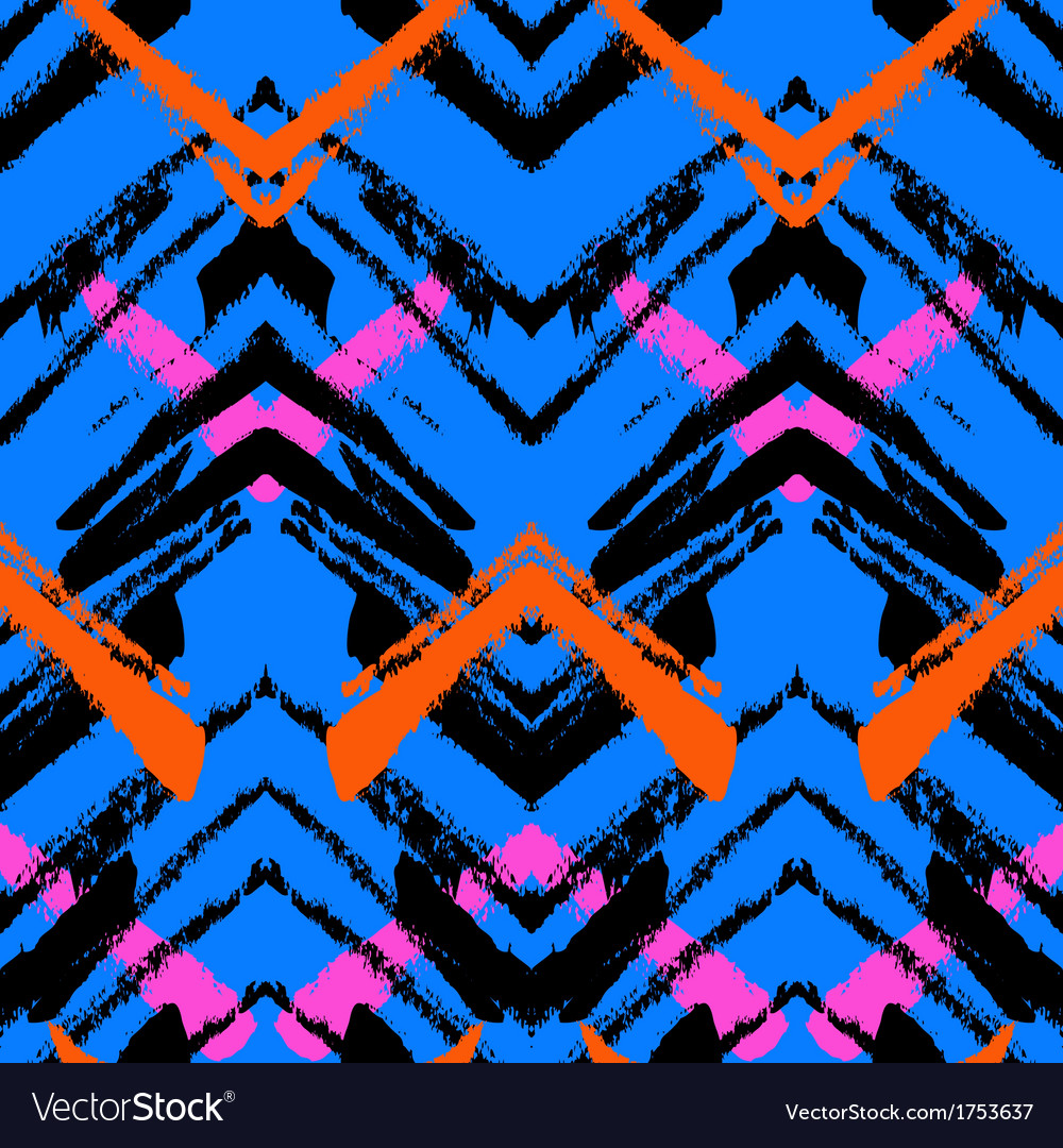 Multicolor hand drawn pattern with zigzag lines vector | Price: 1 Credit (USD $1)