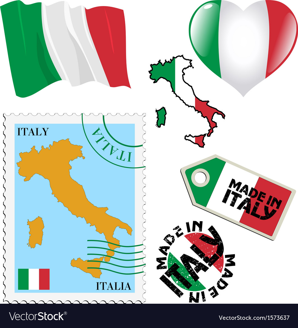 National colours of italy vector | Price: 1 Credit (USD $1)