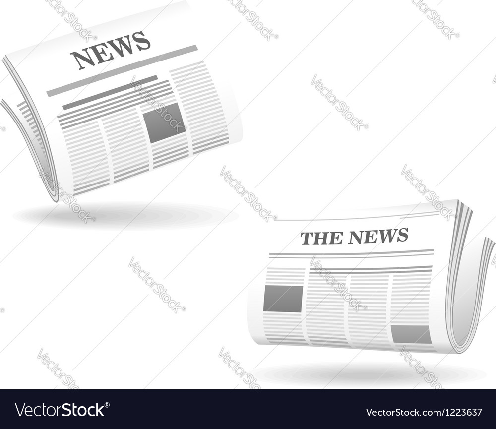 Newspaper realistic icons vector | Price: 1 Credit (USD $1)