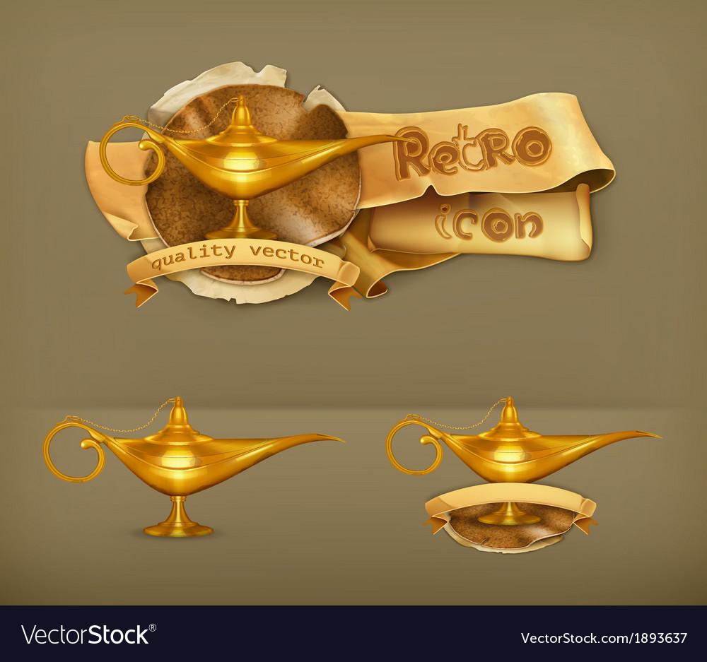 Oil lamp icon vector | Price: 1 Credit (USD $1)