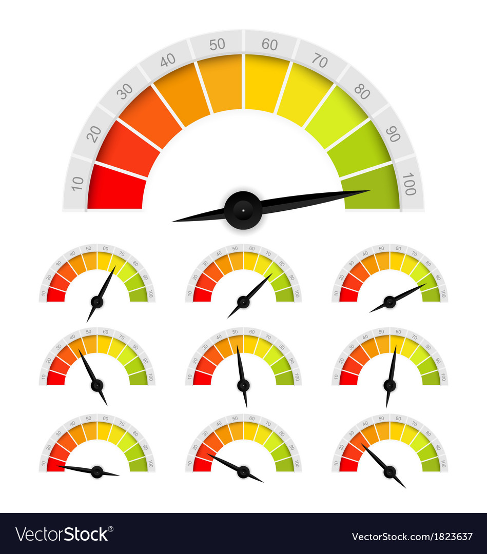 Percentage gauge vector | Price: 1 Credit (USD $1)