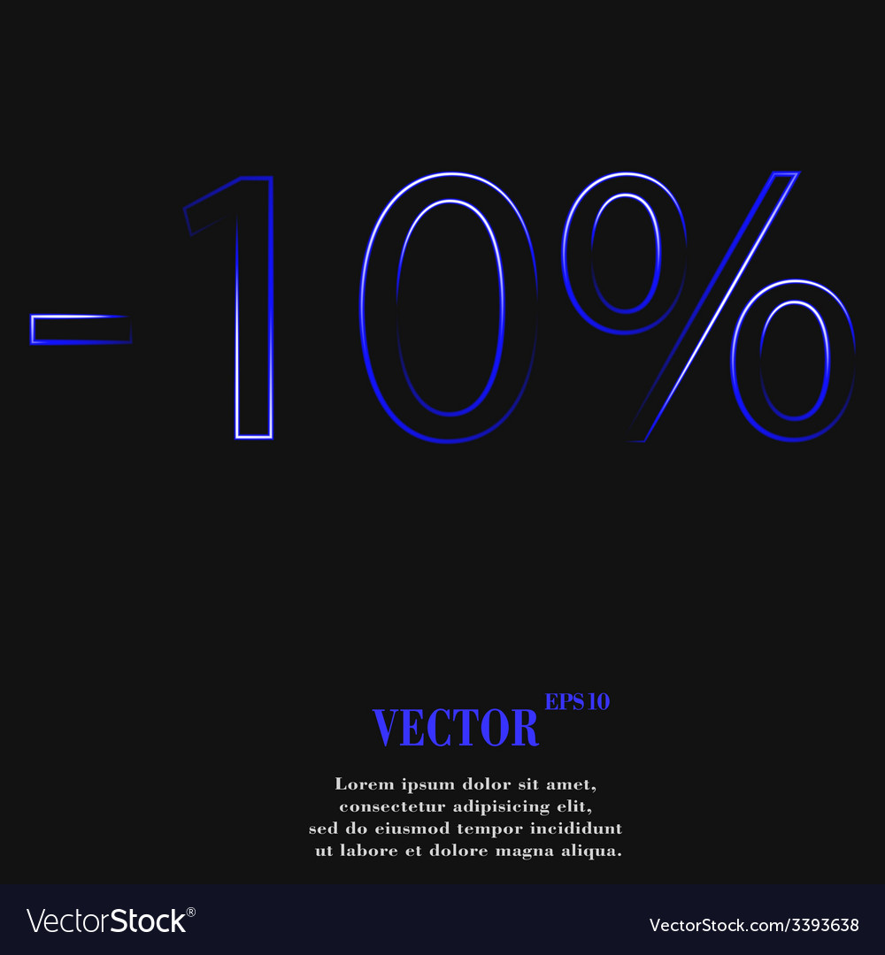 10 percent discount icon symbol flat modern web vector | Price: 1 Credit (USD $1)