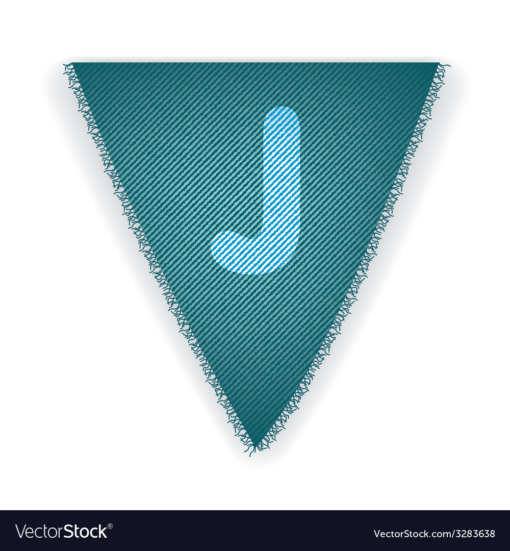 Bunting flag letter j vector | Price: 1 Credit (USD $1)