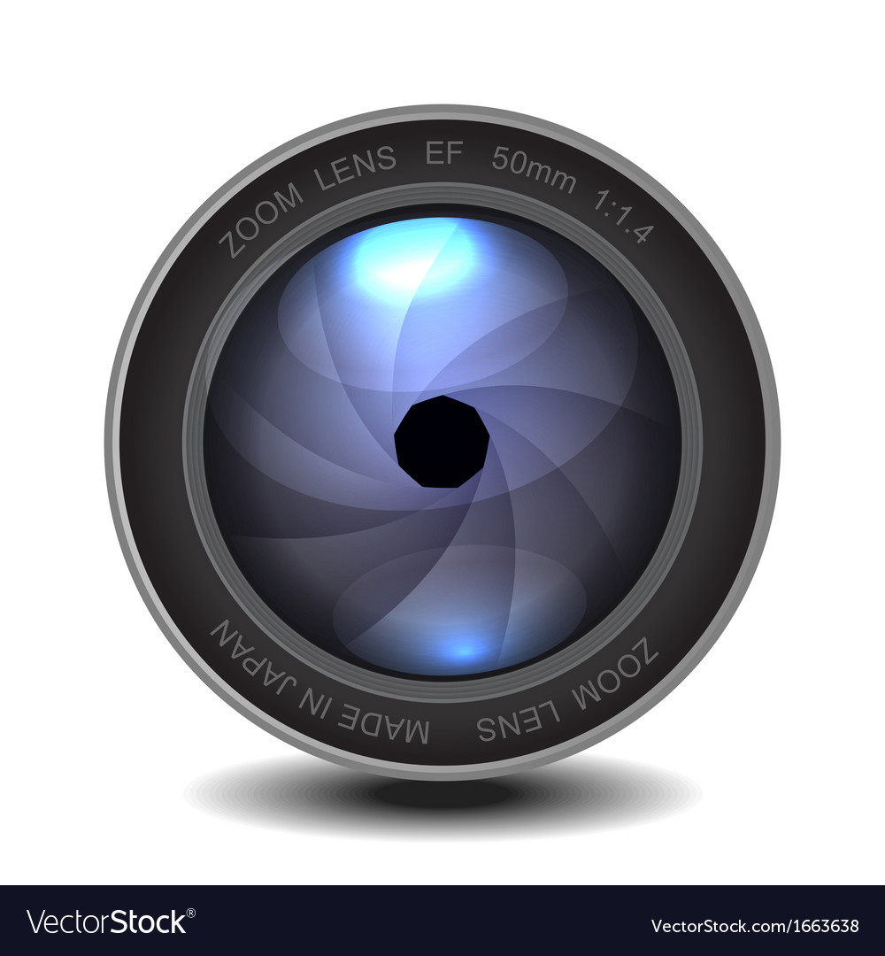 Camera photo lens with shutter vector | Price: 1 Credit (USD $1)
