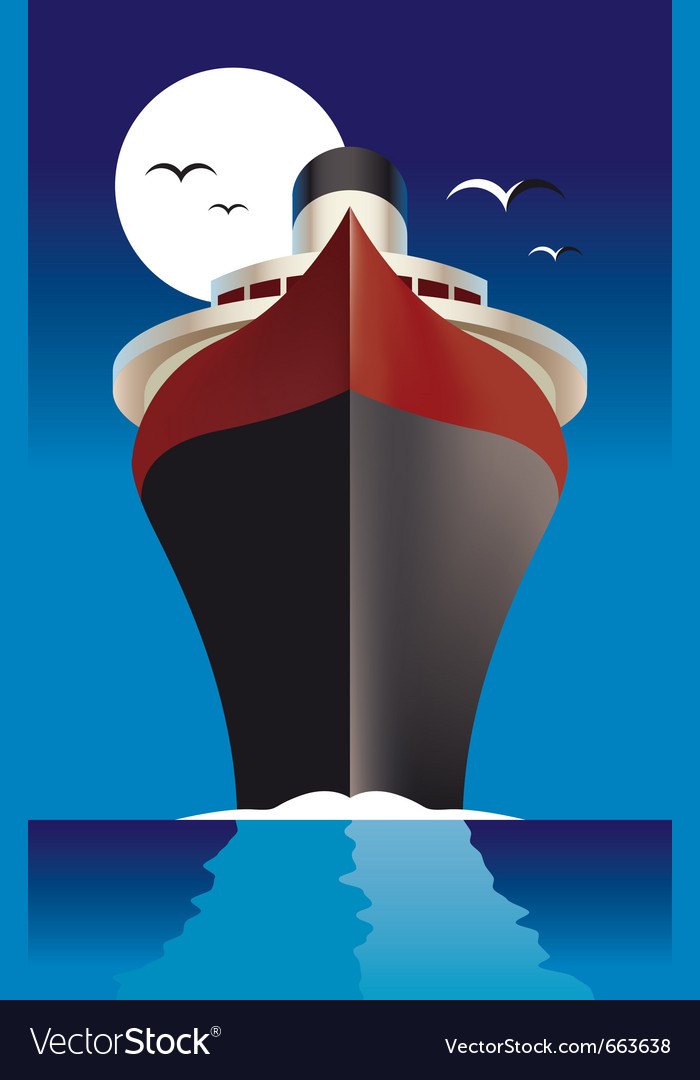 Cruise ship cruise liner vector | Price: 1 Credit (USD $1)