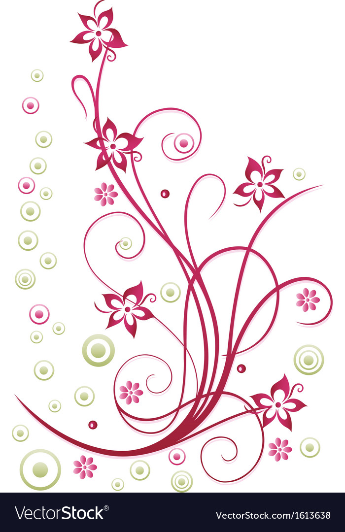 Floral element blossoms vector | Price: 1 Credit (USD $1)