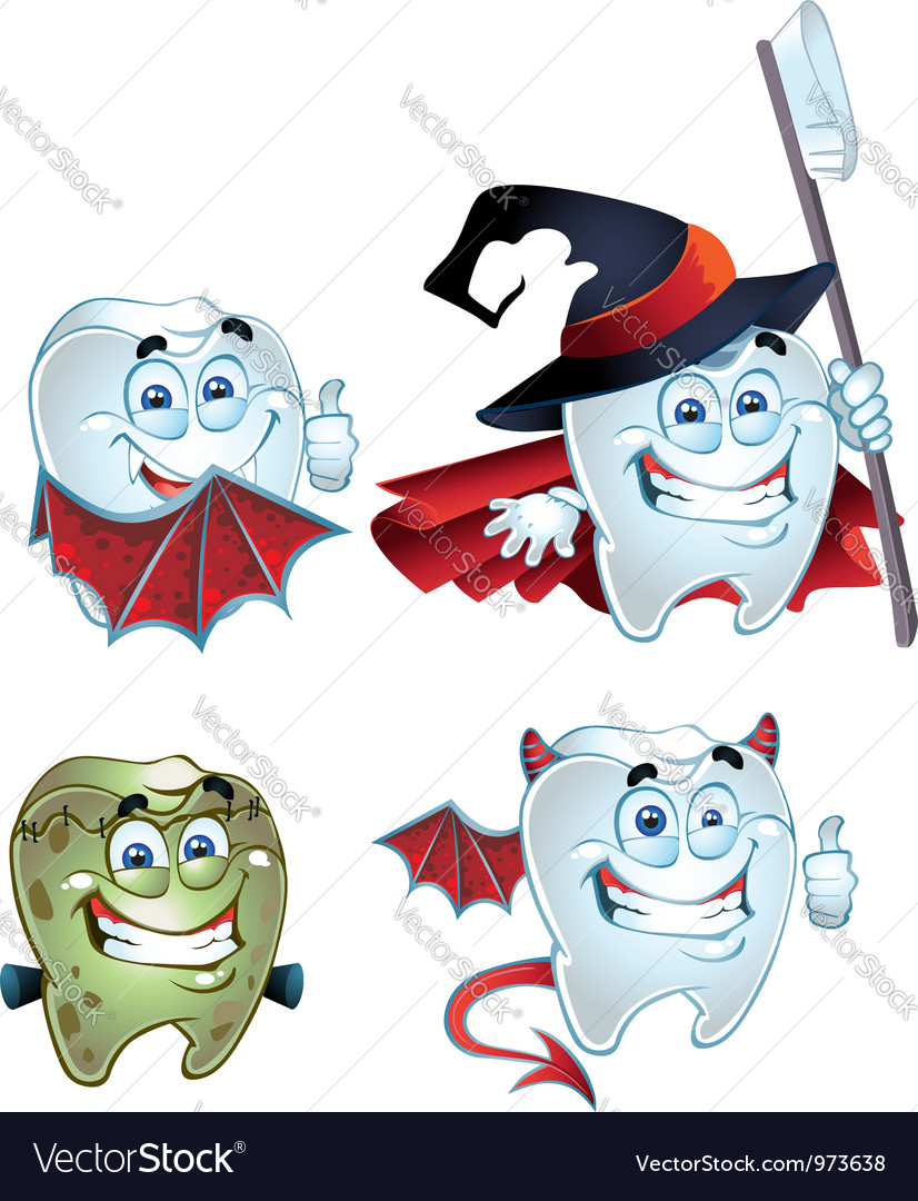 Fun halloween tooth vector | Price: 3 Credit (USD $3)