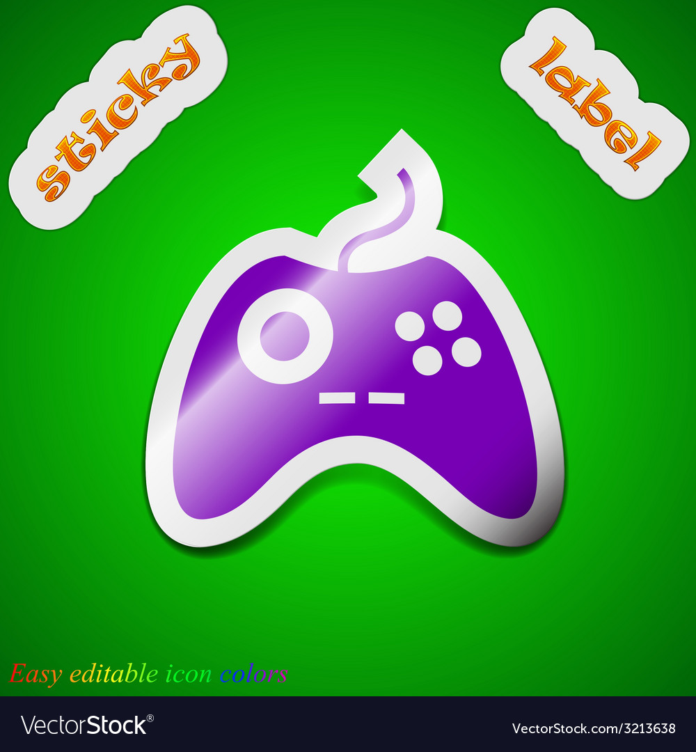 Joystick icon sign symbol chic colored sticky vector | Price: 1 Credit (USD $1)