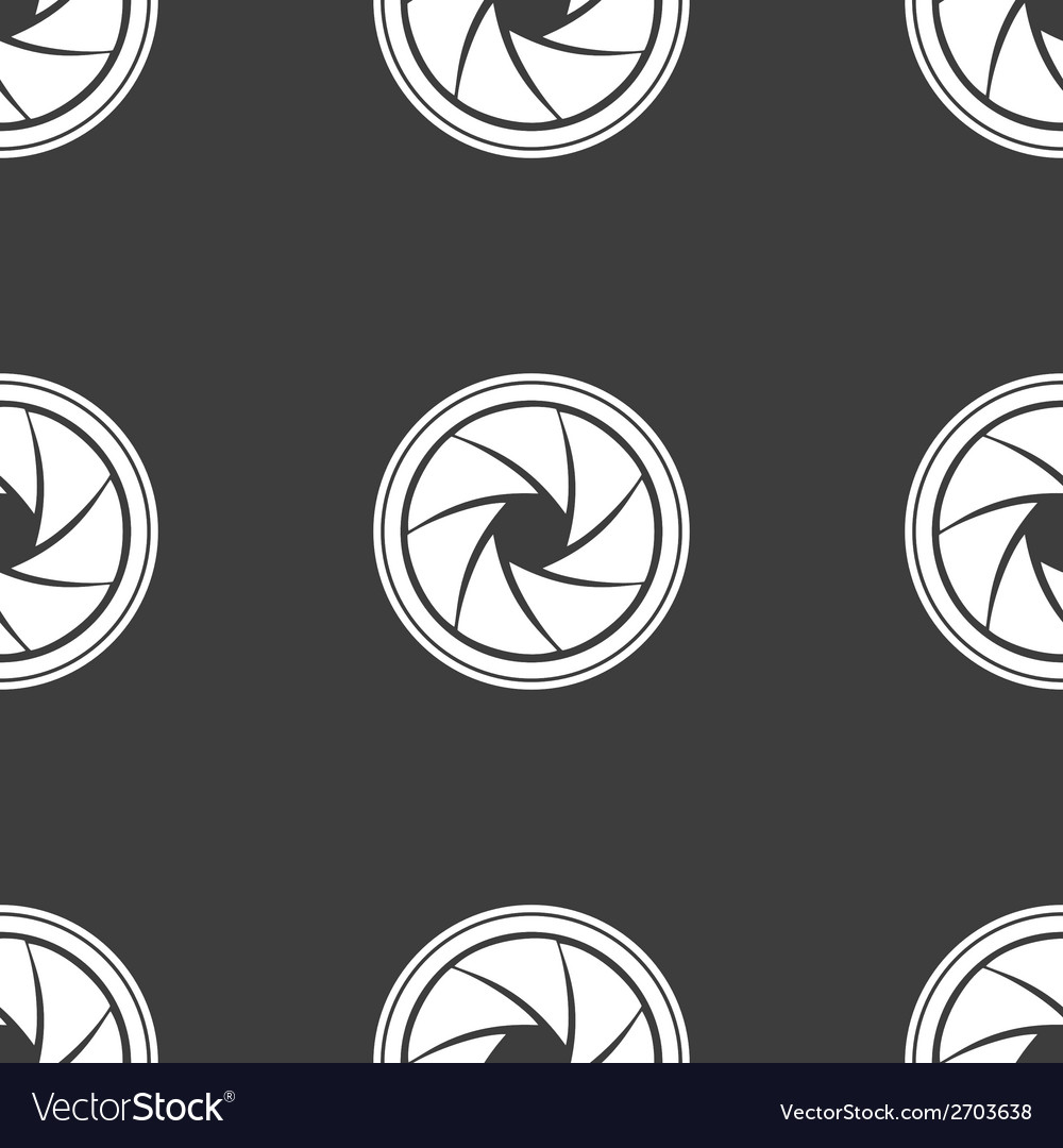 Photo camera diaphragm web icon flat design vector | Price: 1 Credit (USD $1)