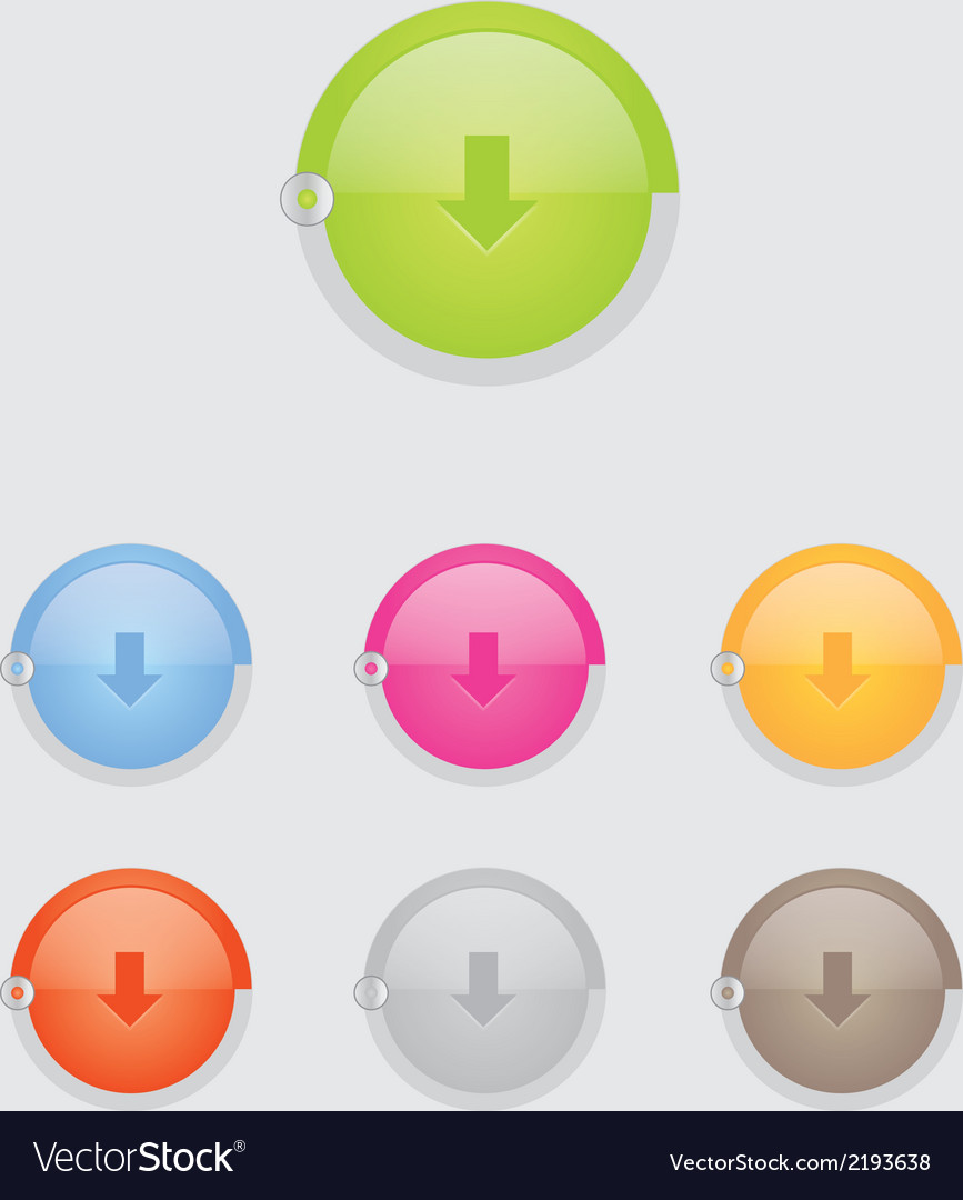 Round download button bar vector | Price: 1 Credit (USD $1)