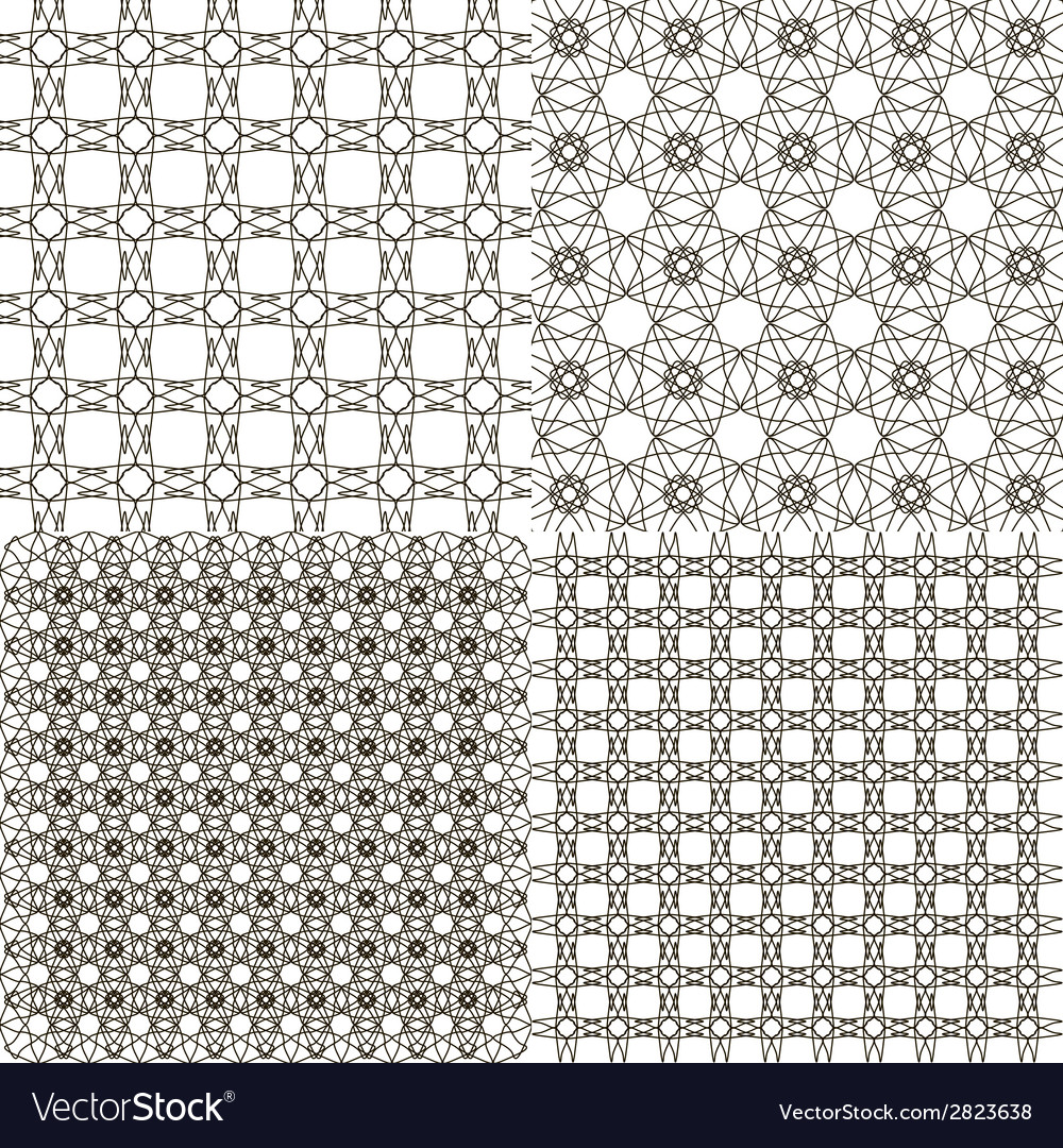 Set abstract vintage geometric wallpaper pattern vector | Price: 1 Credit (USD $1)