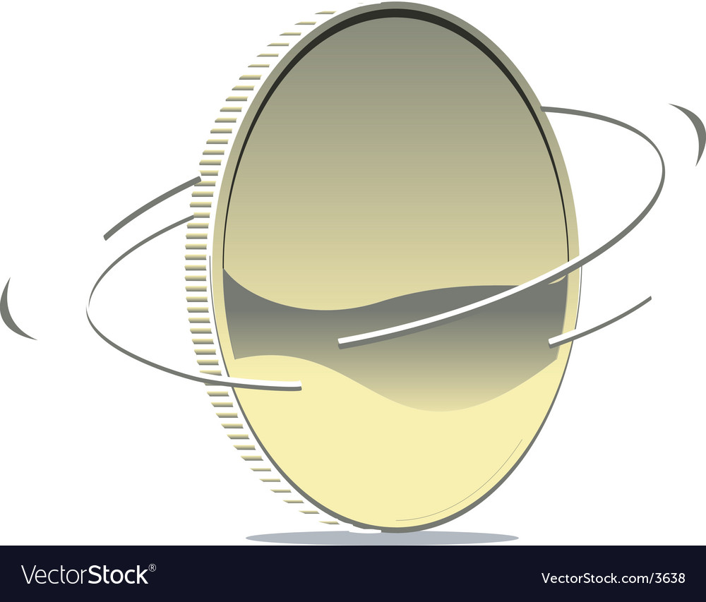 Spinning coin vector | Price: 1 Credit (USD $1)