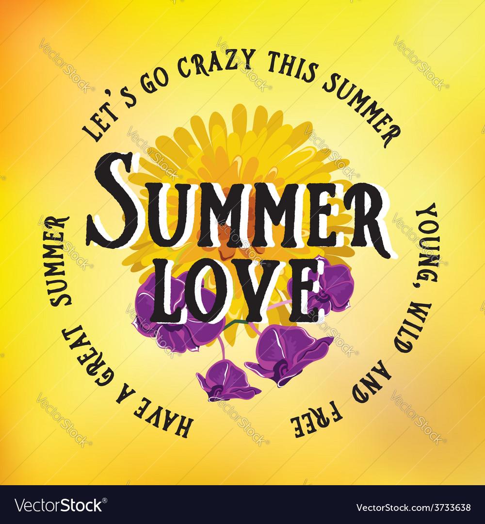 Summer postertypography vector | Price: 1 Credit (USD $1)