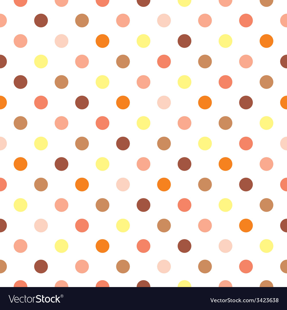 Tile polka dots on white background vector | Price: 1 Credit (USD $1)