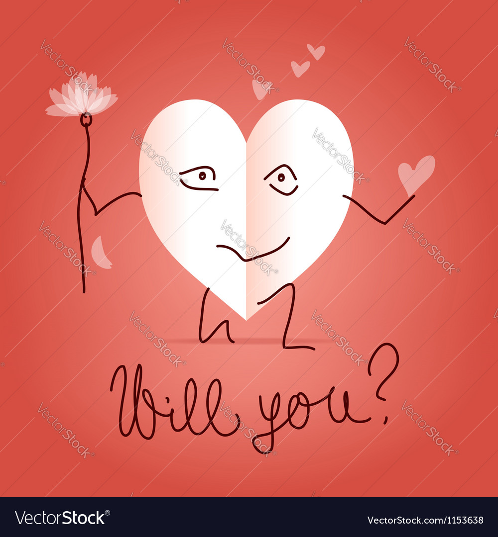 Will you be my valentine vector | Price:  Credit (USD $)