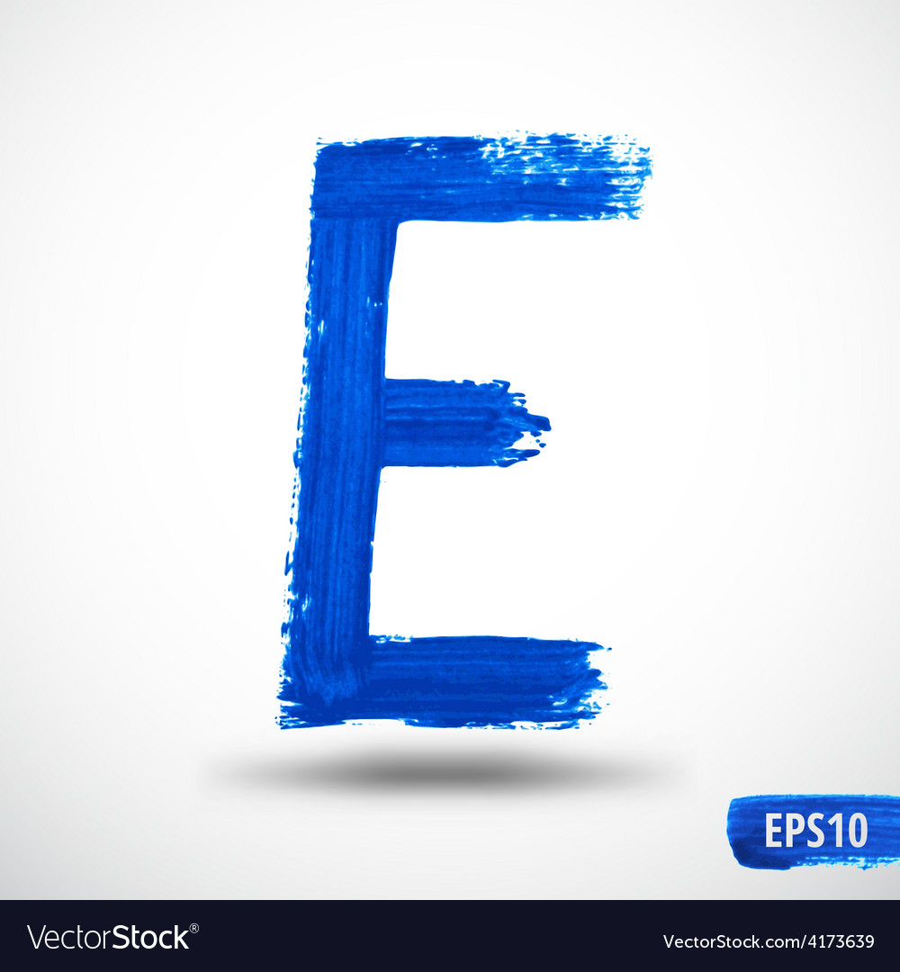 Alphabet letter e watercolor alphabet vector | Price: 1 Credit (USD $1)